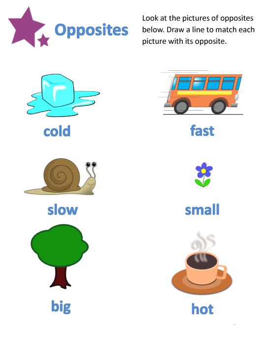 Common Worksheets » Opposites Worksheet For Kindergarten ...