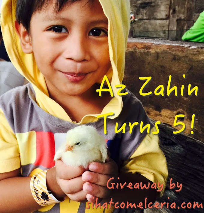 AZ ZAHIN TURNS 5 GIVEAWAY BY SIHATCOMELCERIA.COM