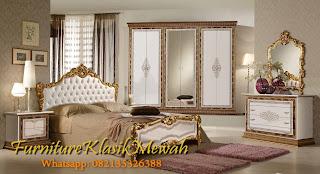 Kamar set Klasik jati-Dipan Klasik ukiran-Furniture Klasik Mewah jati klasik duco ukiran