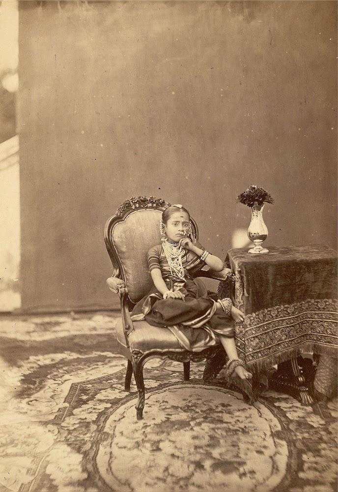 Tarabai, princess of Baroda (Vadodara), Gujarat - Circa 1880