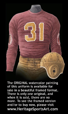 Washington Redskins 1937 uniform