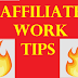 Affiliate work Basic Information 4 Beginners