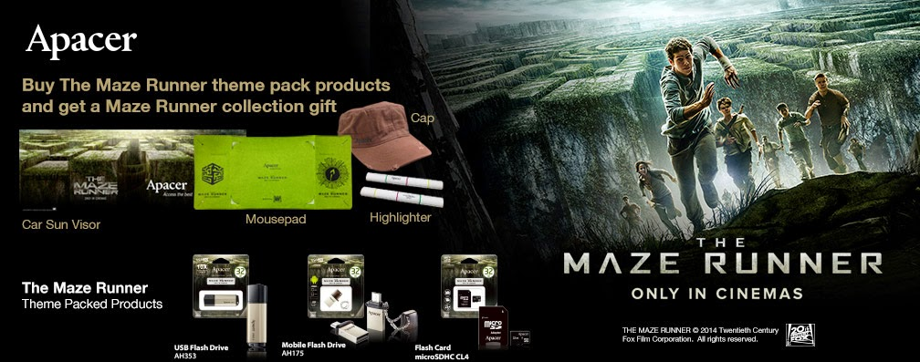 Apacer limited edition The Maze Runner movie-themed products