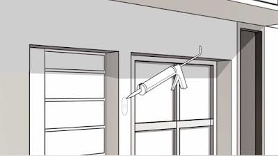 Instalaciones eléctricas residenciales - Aplicando silicón a la orilla de la placa