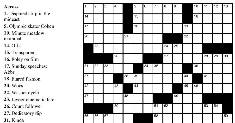 5 Printable Crossword Puzzles For Christmas