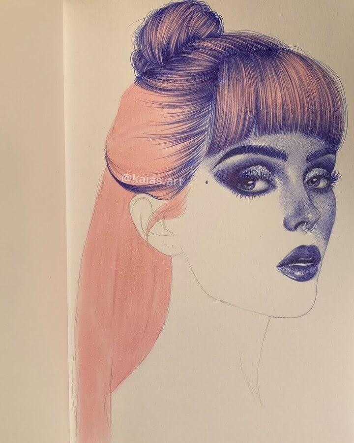03-Kaia-Ballpoint-Pen-Color-Portraits-www-designstack-co