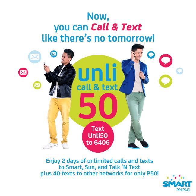 Smart Unli 50 promo lets you enjoy 2 days unlimited calls and texts