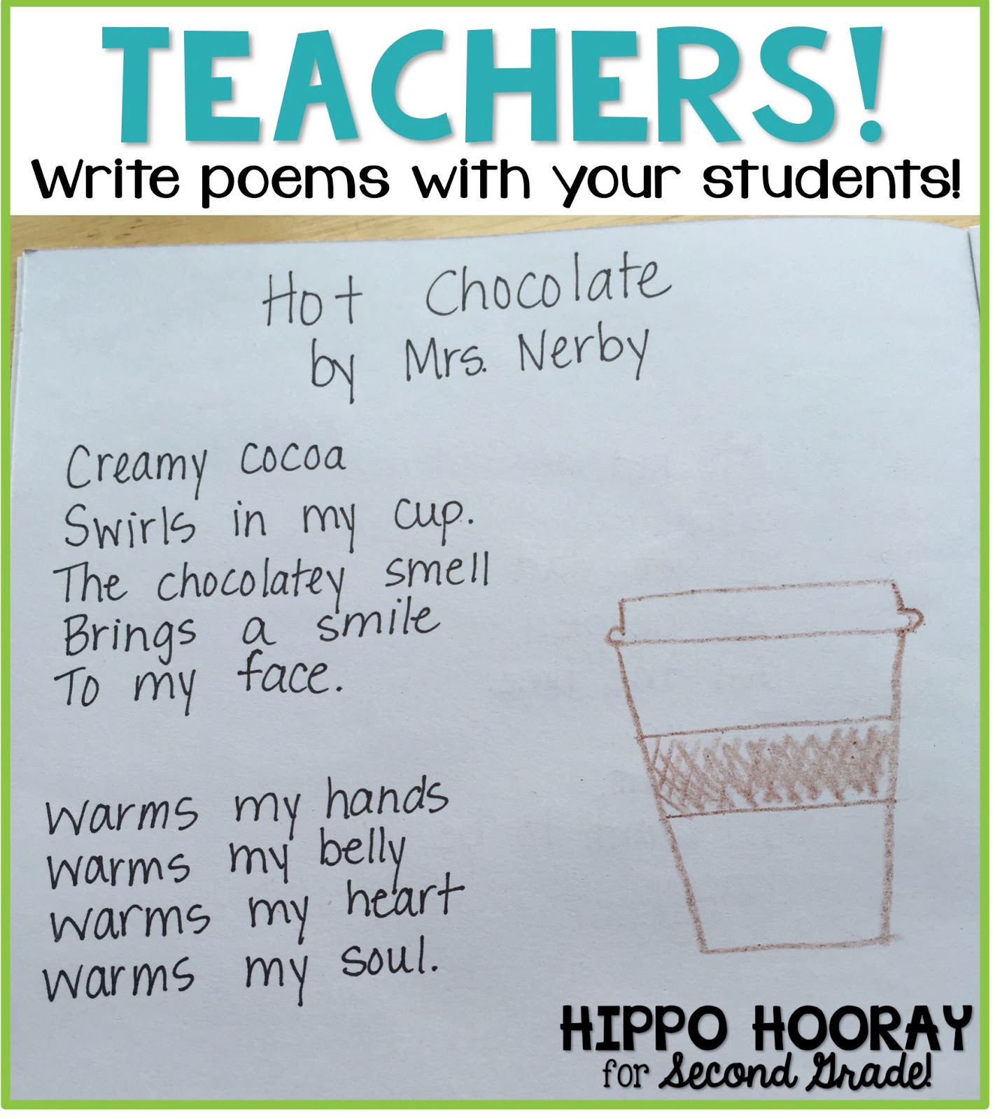 Beyond Acrostics \u0026 Haiku: Teaching Poetry - Hippo Hooray for Second Grade! [ 1600 x 1429 Pixel ]