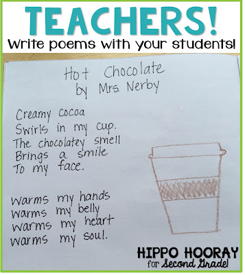 TEACHERS! Model writing poems in front of your class. Show them that anyone can write poetry!