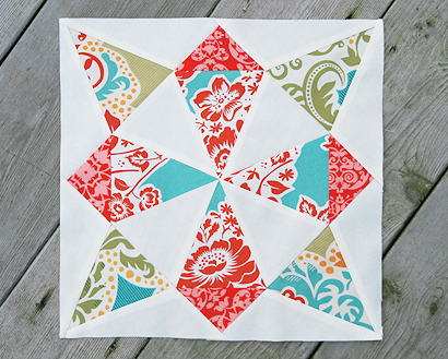 Whirling Star Quilt Block Free Tutorial