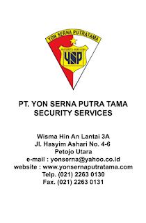 ID Card PT Yon Serna Putra Tama Belakang