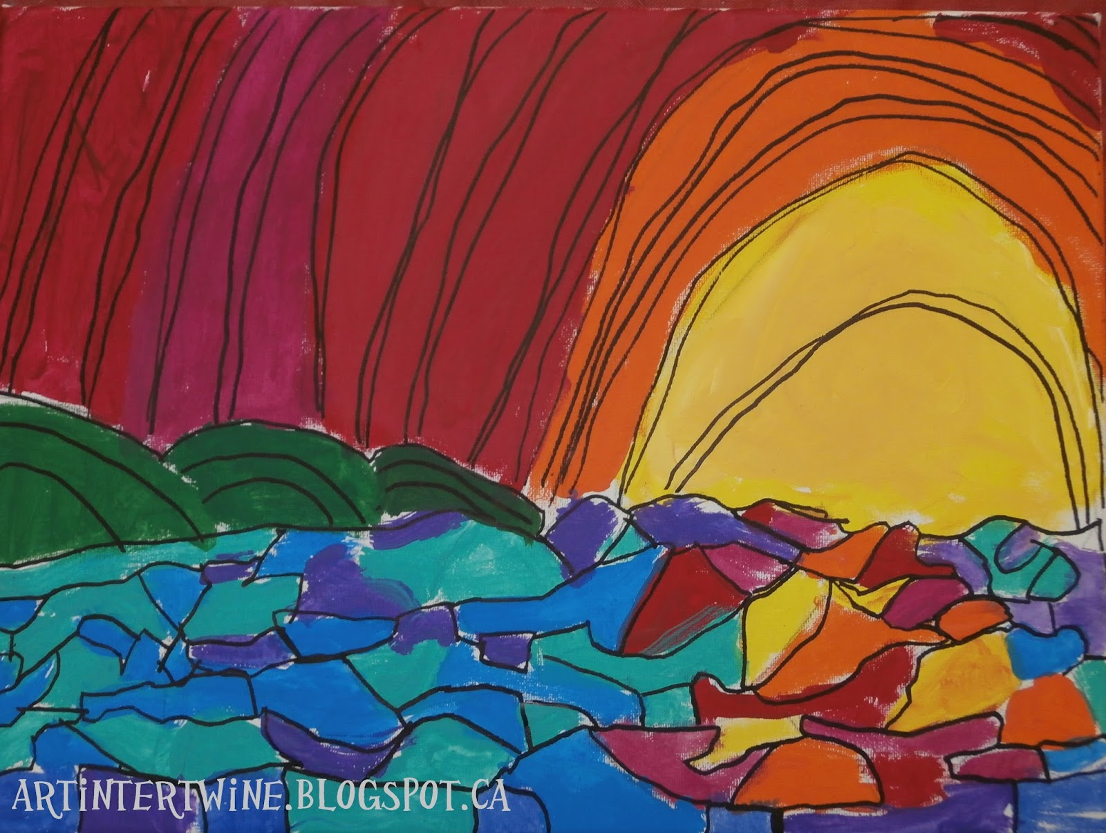 Art Intertwine Heather Brown Inspired Sunset Paintings