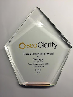 SEOclarity synergy award for Dell