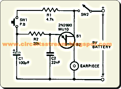 Simple Toy Siren Circuit Diagram