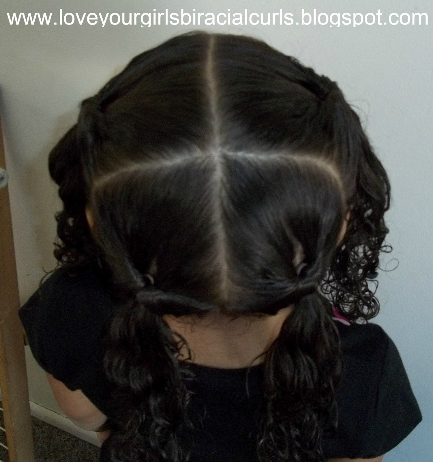 Love Your Girls Biracial Curls Topsy Tail Created