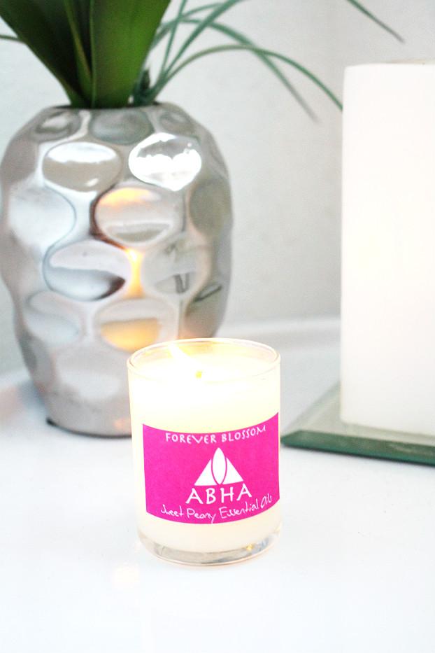 abha sweet peony candle