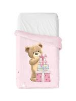 Osito rosa vip de Manterol. Manta Baby Cuna - 521