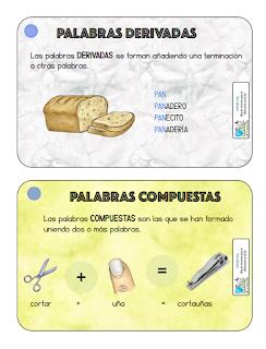 TARJETAS DE VOCABULARIO 3º PRIMARIA