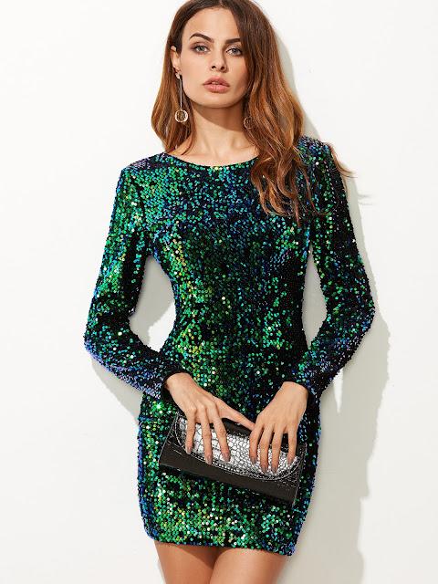 http://shein.com/Green-Iridescent-Long-Sleeve-Sequin-Bodycon-Dress-p-324879-cat-1727.html?utm_source=dogonicpasje.blogspot.com&utm_medium=blogger&url_from=dogonicpasje