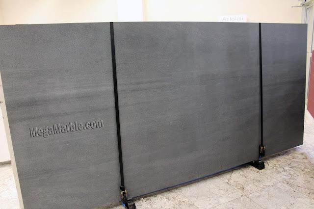 Gray Porcelain Slabs For Countertops & Shower Walls