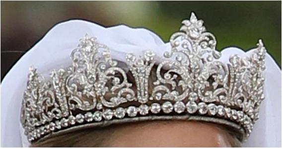 This Is Not The Same Diamond Tiara Worn At A Rakish Angle By Lady Melissa S Sister Katie Percy For Her 2017 Wedding To Patrick Valentine