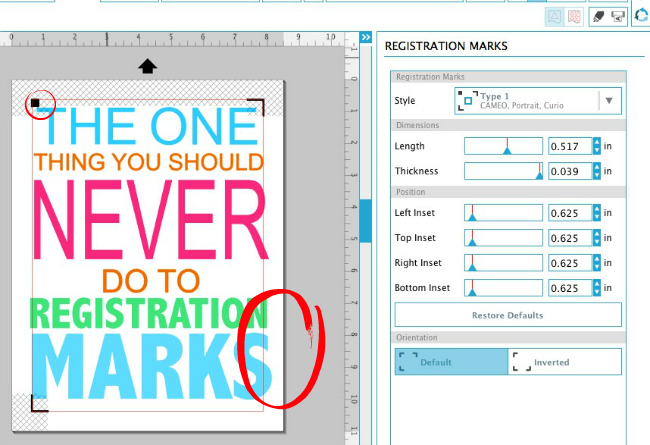 Silhouette Tutorial, Silhouette Print and Cut, Silhouette Cameo, print and cut, print and cut registration error