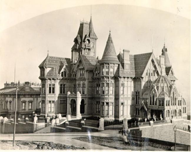 "Photo pre 1906 San Fran Calif /""Mark Hopkins Residence/"""