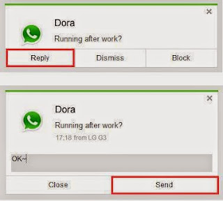 Airdroid 3 - Reply for whatsapp message using airdorid