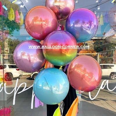 Balon Orbz / Balon Foil Orbz OMBRE (NEW COLOUR)