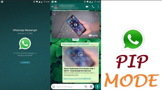 WhatsApp 2.18.380 Finally  Fetch PiP Mode  Version For Android
