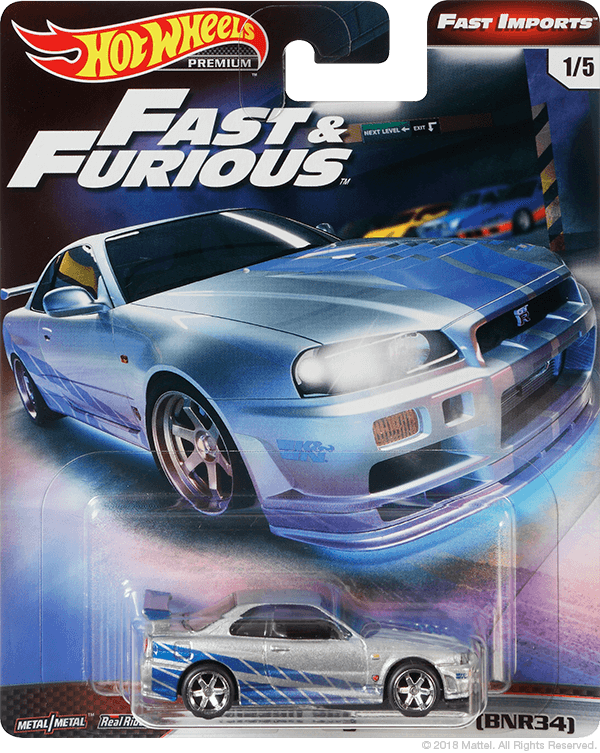 S14 Hot Wheels 2019 Fast /& Furious Nissan 240SX 1//5 Original Fast Premium