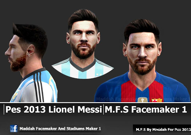 PES 2013 Messi Face by M.F.S Facemaker 1
