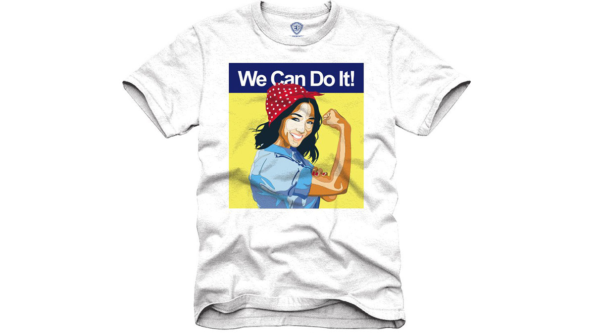 T-shirt re-imagines Constance Wu as Rosie the Riveter