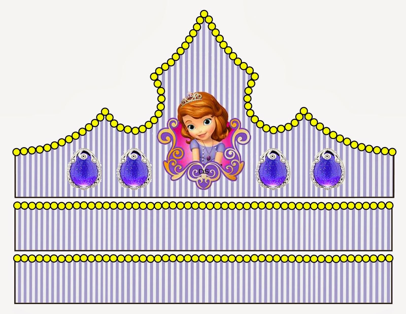 Princess Sofia Free Printable Crown or Tiara  Oh My