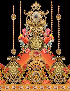 Jewellery motif textile design