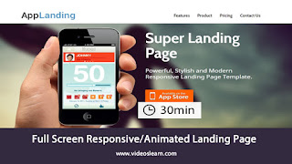 Full Screen Responsive/Animated Landing Page - HTML5 & CSS3 Tutorial