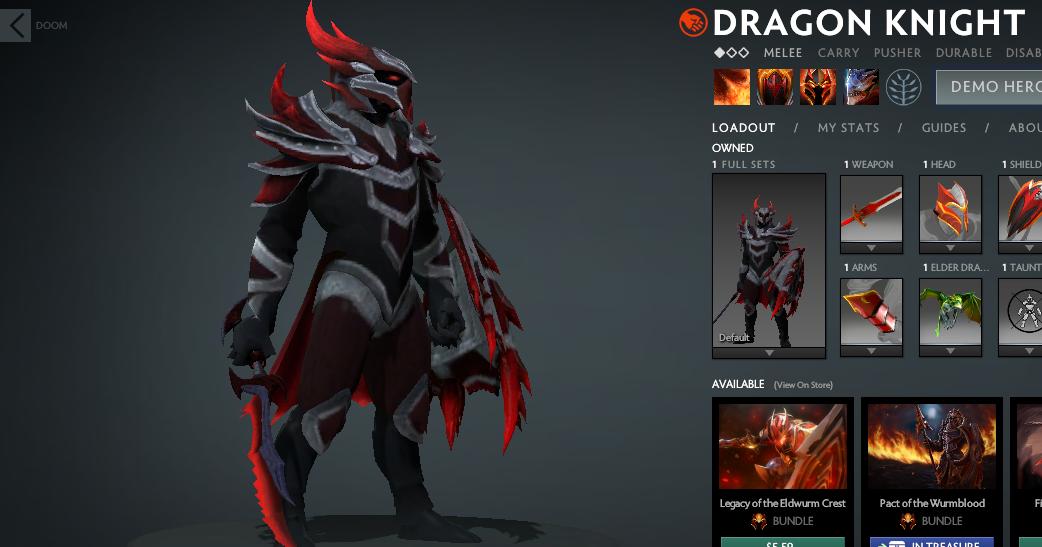 Mod Deadra Dragon Knight Mod Skin Dota