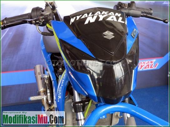 Headlamp Buta Ala Motor Balap - Video Cara Modifikasi All New Suzuki Satria F150 FI Sporty Untuk Balapan Terbaru Sederhana Tapi Keren