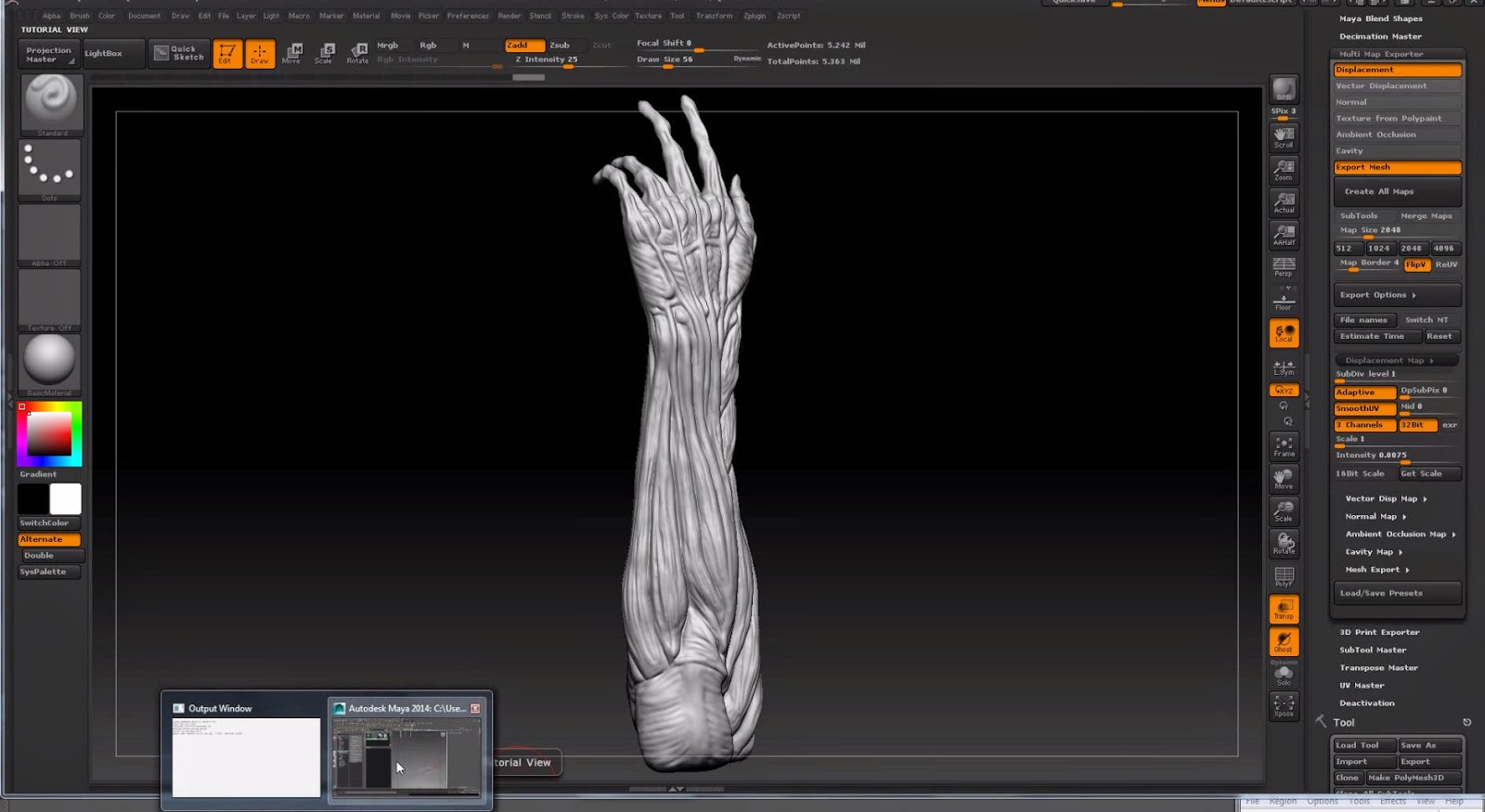 Displacement Mapping in Maya with ZBrush Displacement Maps