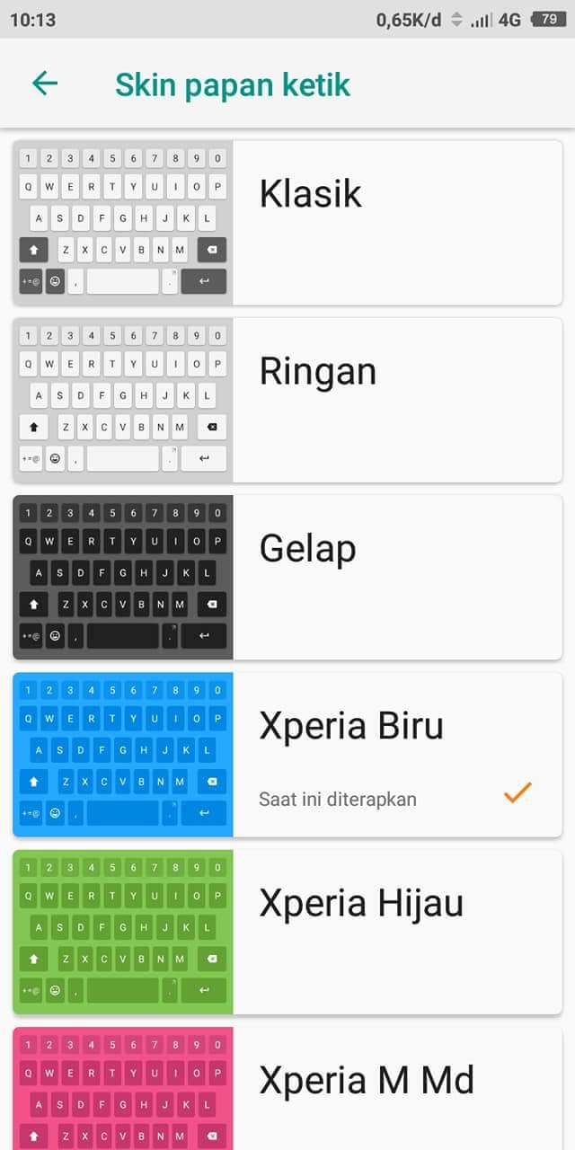 Download Keyboard Sony Xperia Untuk Semua Type Hp Xiaomi Fauzil Blog 001