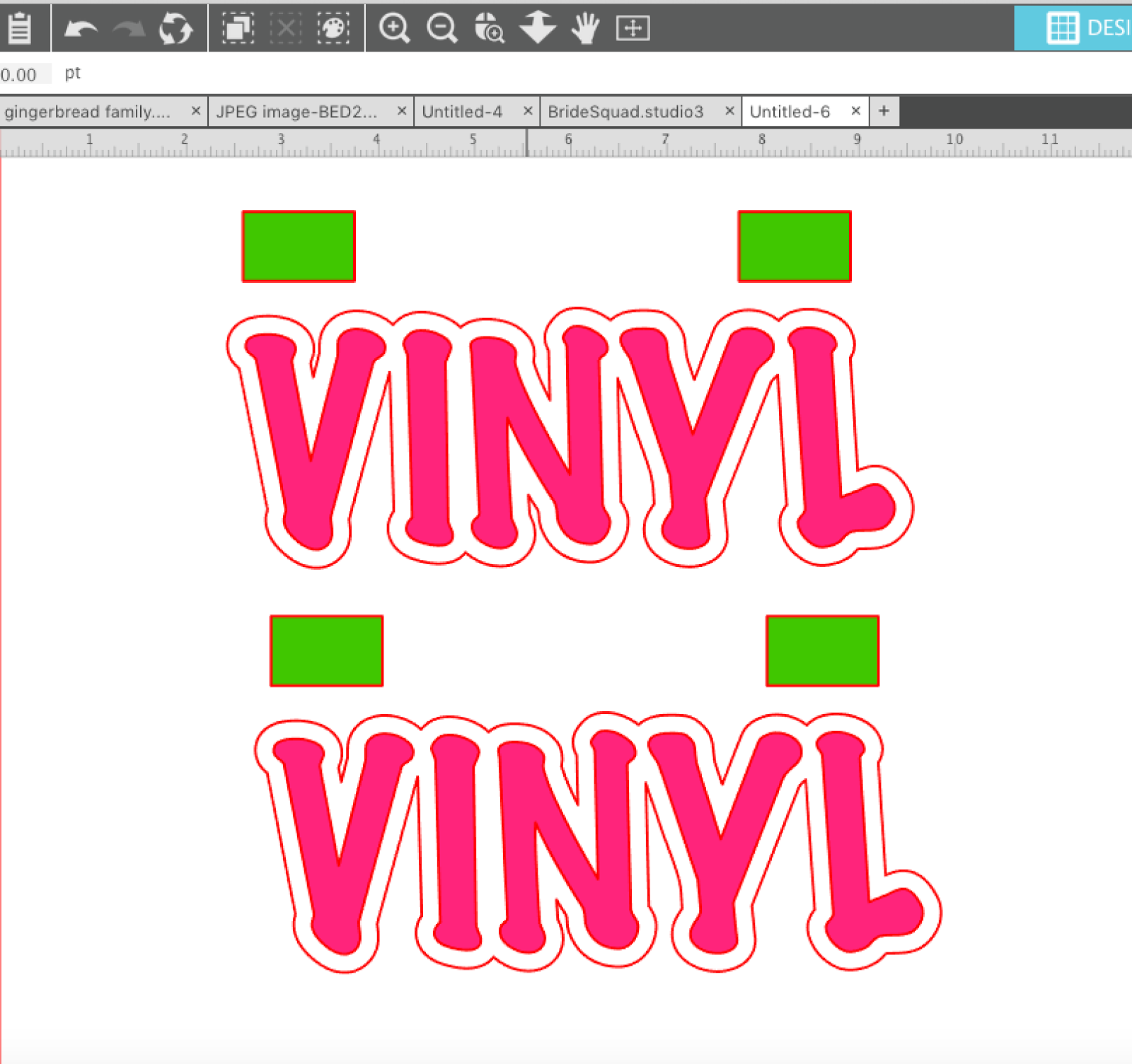 Silhouette Layering Vinyl Tutorial The No Fail Method Circuit Design Suite You Can Create Multiple Layers And Arrange Keeping Registraiton Marks With Each Copy Delete Alternating On Two Copies Should Have Something That Looks Like This