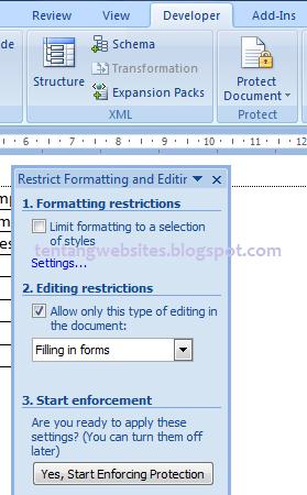 Cara Membuat Formulir checklist di ms word