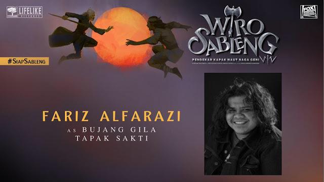 Fariz Alfarazi sebagai Bujang Gila Tapak Sakti/ Sumber foto @LifeLikePictrs
