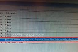 Upload Retur Error ETAX-API-40004 : Tanggal Retur Tidak Sesuai Dengan Nota Retur Lawan Transaksi