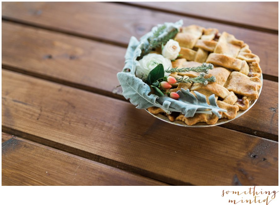 Floral Wedding Pie Inspiration from Snohomish Wedding Photographer Something Minted