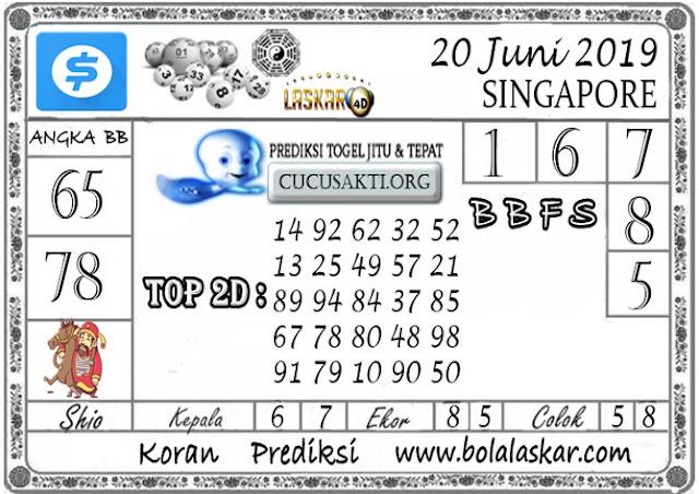 Prediksi Togel SINGAPORE LASKAR4D 20  JUNI 2019