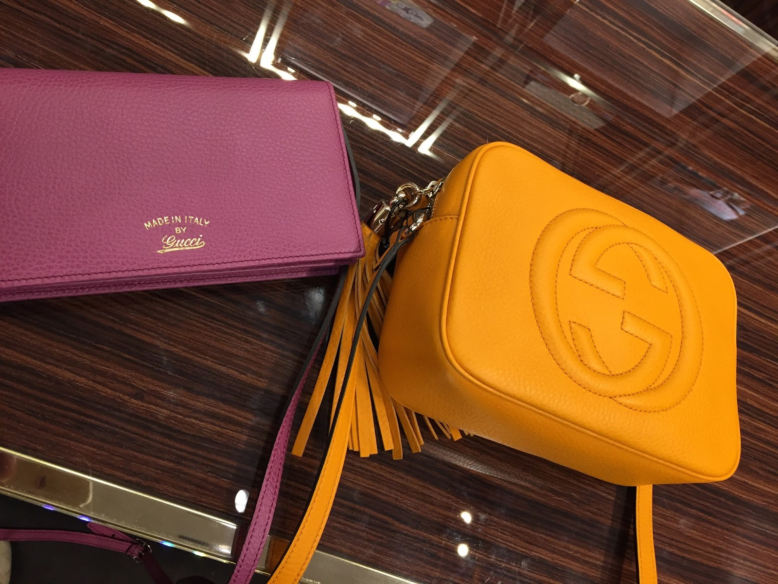 Gucci At Westfield These Had 40 Off From Memory I Was Very Tempted By The Yellow As It A Cross Body Style Bag My Eye On