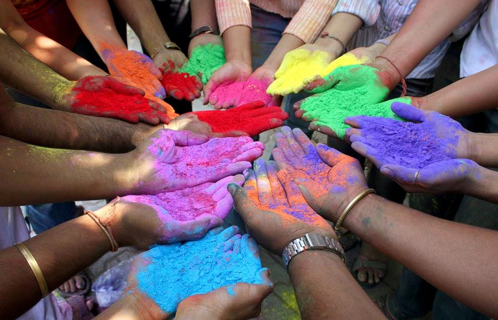 Colour Holi wallpaper