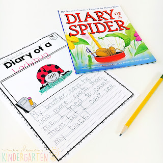 We love reading and learning about spiders in our kindergarten classroom, but planning meaningful comprehension activities can be a challenge. This Spider: Read & Respond pack made it super easy to teach 5 comprehension skills for 5 of our favorite picture books. Students especially love the themed crafts and writing prompts too!