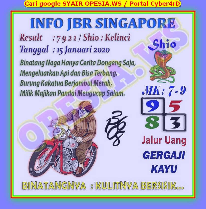 Kode syair Singapore Rabu 15 Januari 2020 2
